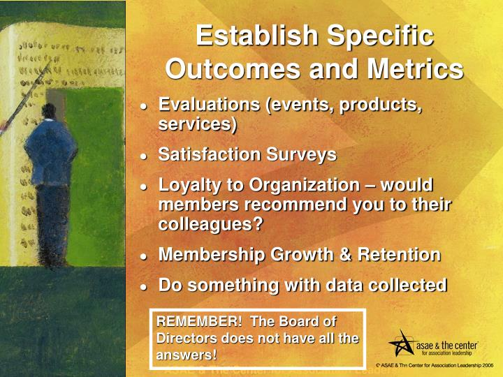 Evaluations (events, products, services)