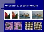 hertzmann et al 2001 results