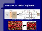 kwatra et al 2003 algorithm