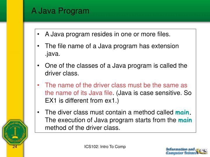 A Java Program