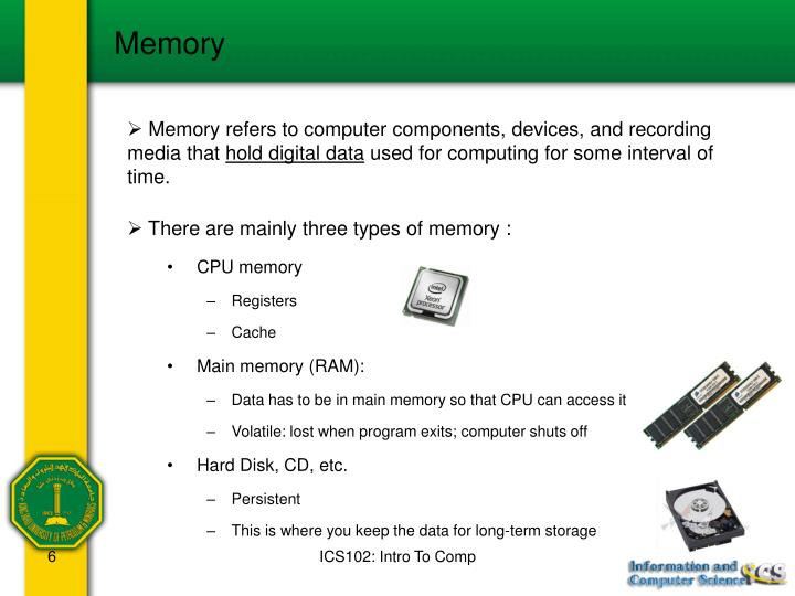 CPU memory