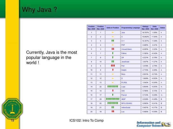 Why Java ?