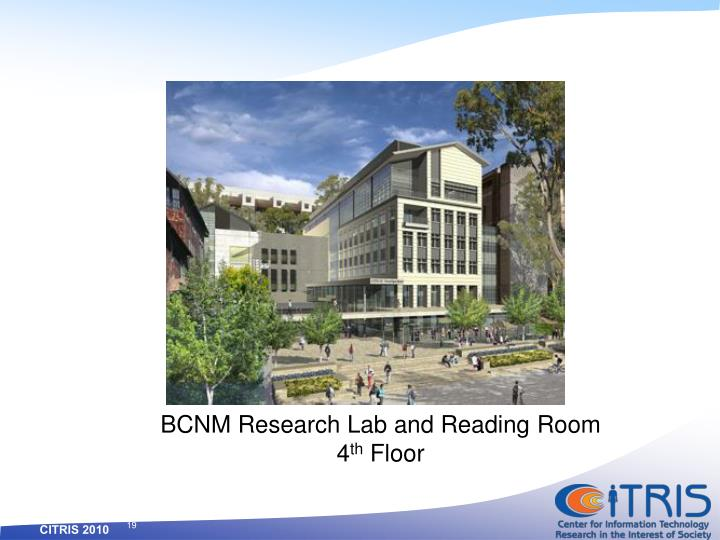 BCNM Research Lab and Reading Room