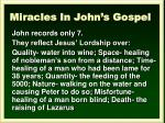miracles in john s gospel