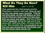what do they do now kill him john 11 47 50