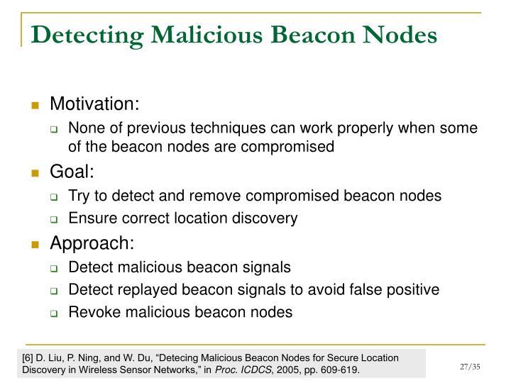 Detecting Malicious Beacon Nodes