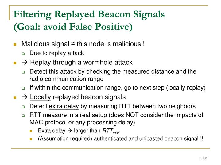 Filtering Replayed Beacon Signals