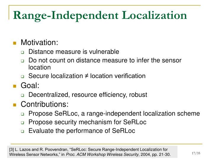 Range-Independent Localization