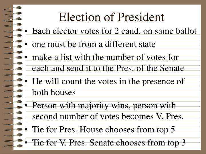 election of president n.