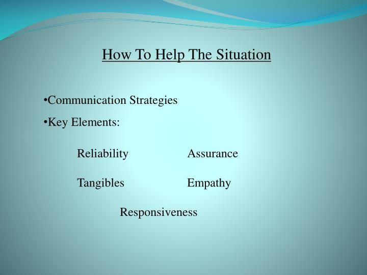 How To Help The Situation