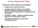 license application plans