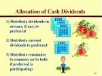 allocation of cash dividends