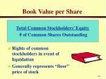 book value per share