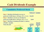 cash dividends example2