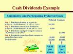 cash dividends example3