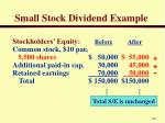 small stock dividend example2