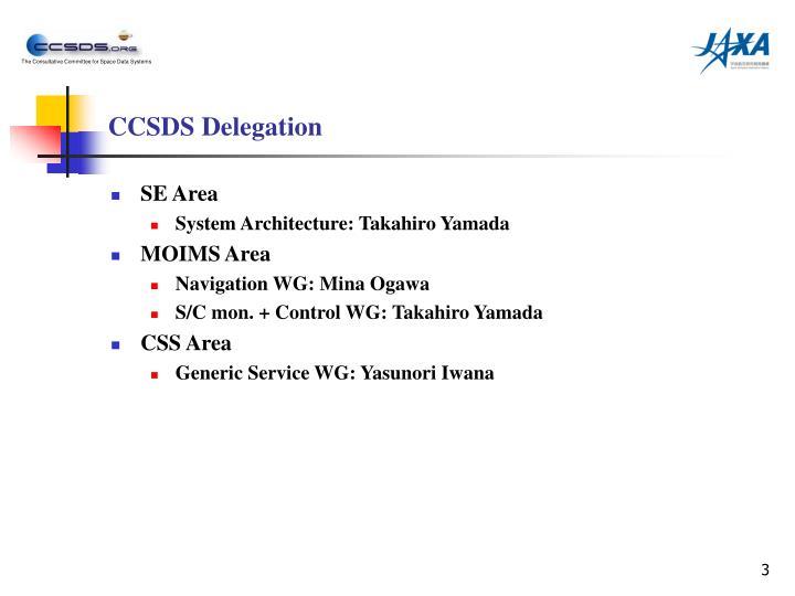 Ccsds delegation
