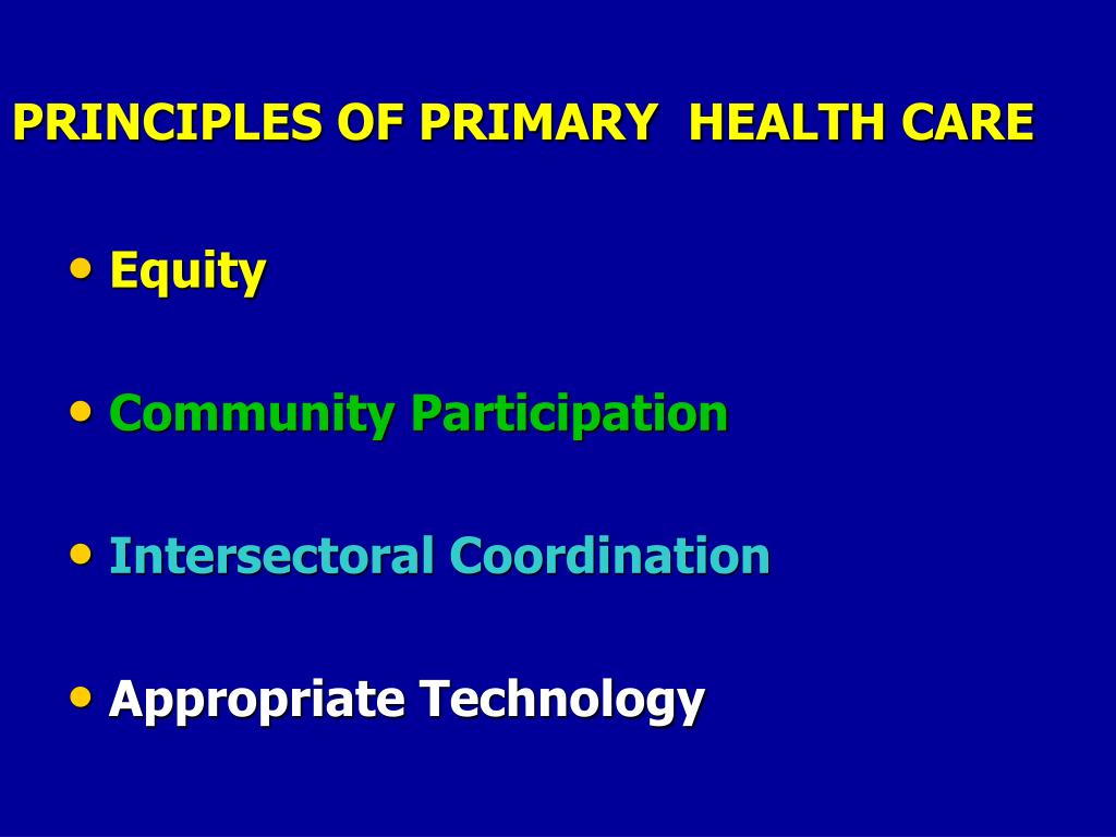 PPT - PRIMARY HEALTH CARE PowerPoint Presentation - ID:3883195