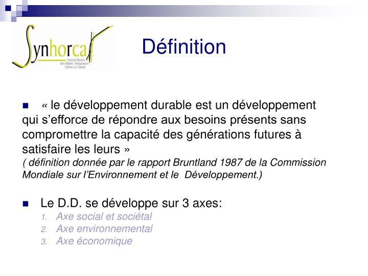 7613459524b2 PPT - DEVELOPPEMENT DURABLE PowerPoint Presentation - ID 3883326