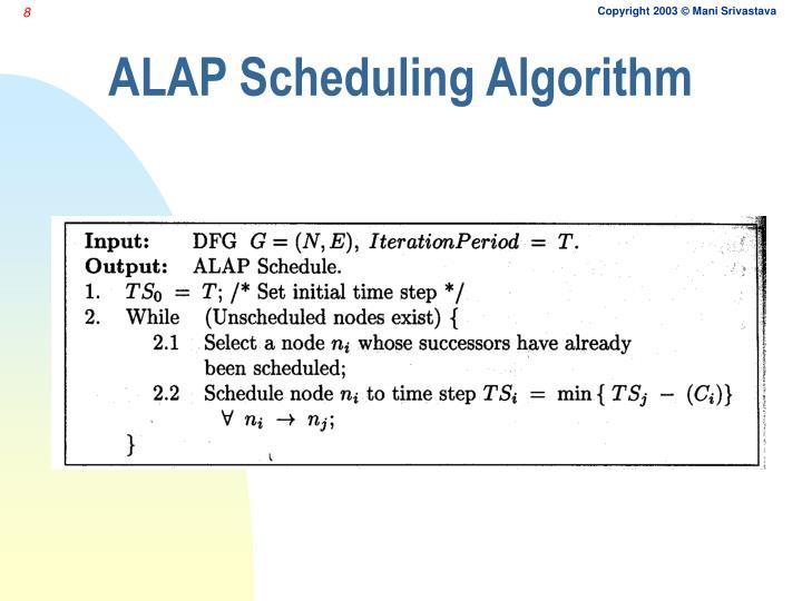 ALAP Scheduling Algorithm