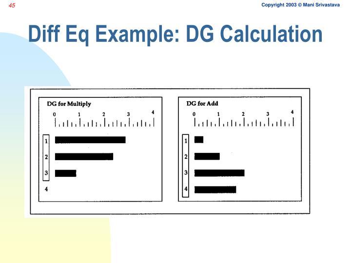 Diff Eq Example: DG Calculation