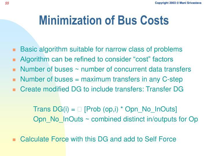 Minimization of Bus Costs