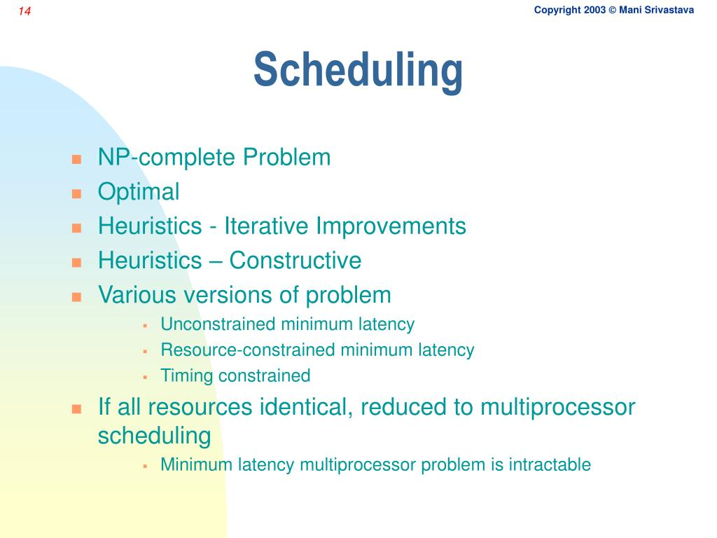 PPT - High-level Synthesis Scheduling, Allocation