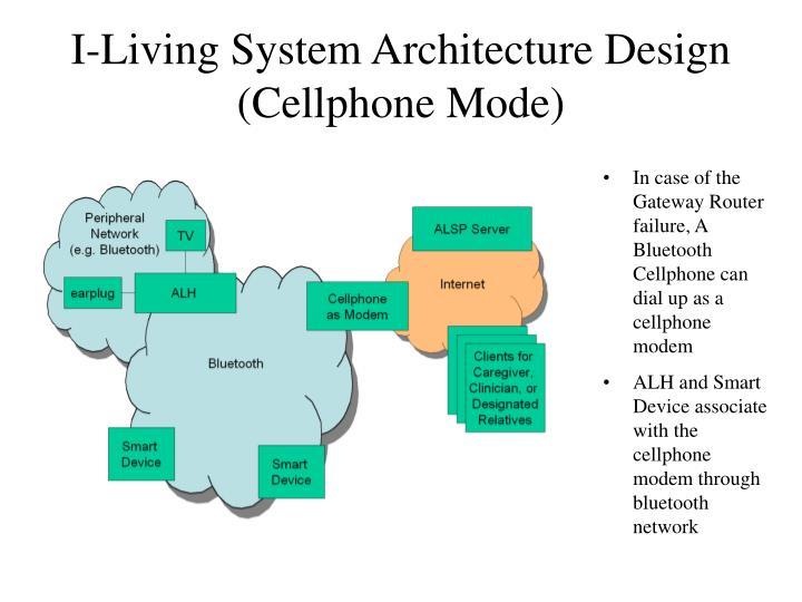 I-Living System Architecture Design (Cellphone Mode)