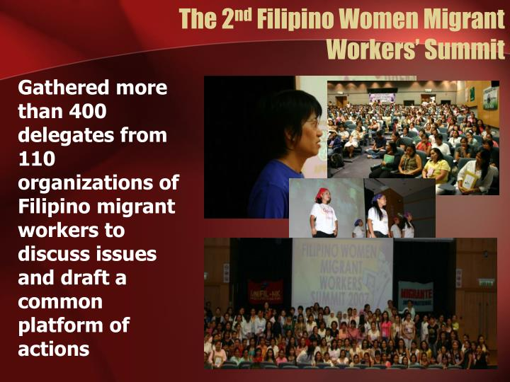 filipino migrant woman Nations favours the international migration of women workers  participation of  filipino migrants in the rural development of their communities.
