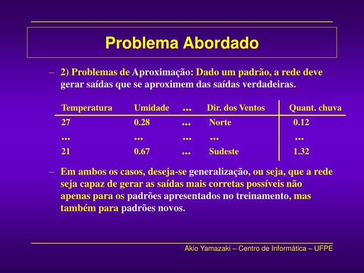Problema Abordado