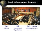 earth observation summit i