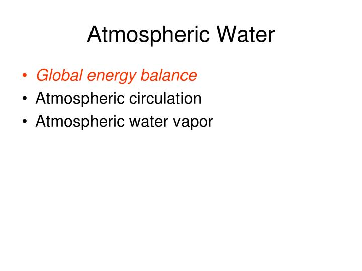 Atmospheric water1