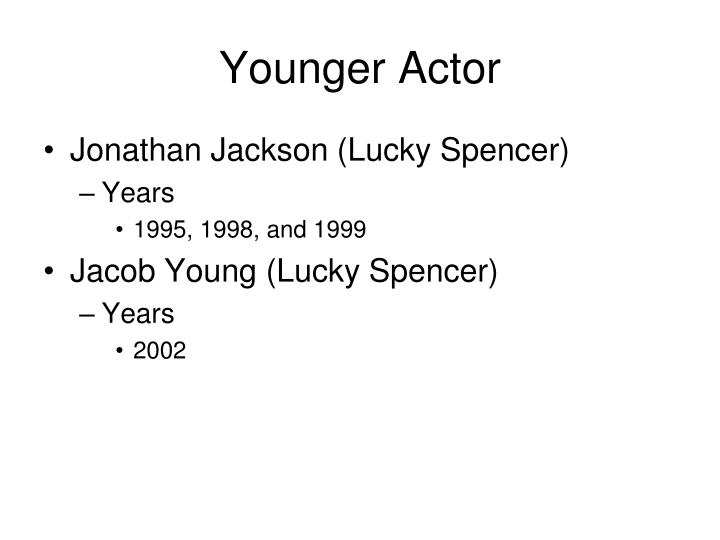 Younger Actor