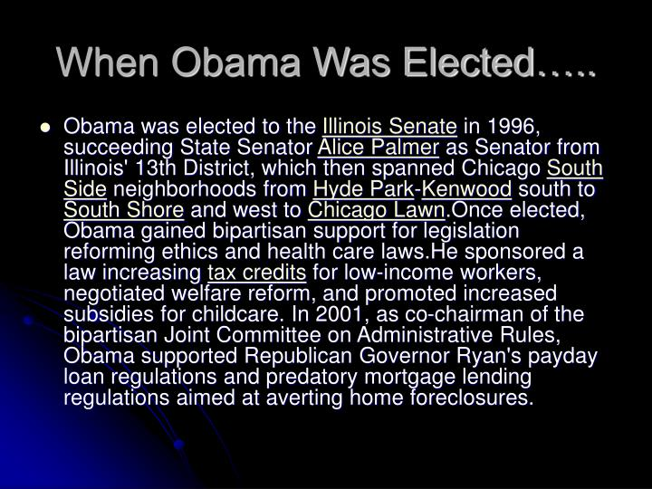 When Obama Was Elected…..