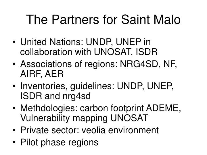 The Partners for Saint Malo