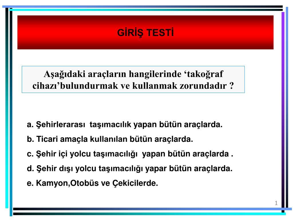 Test cihazını kullanmayı öğrenme