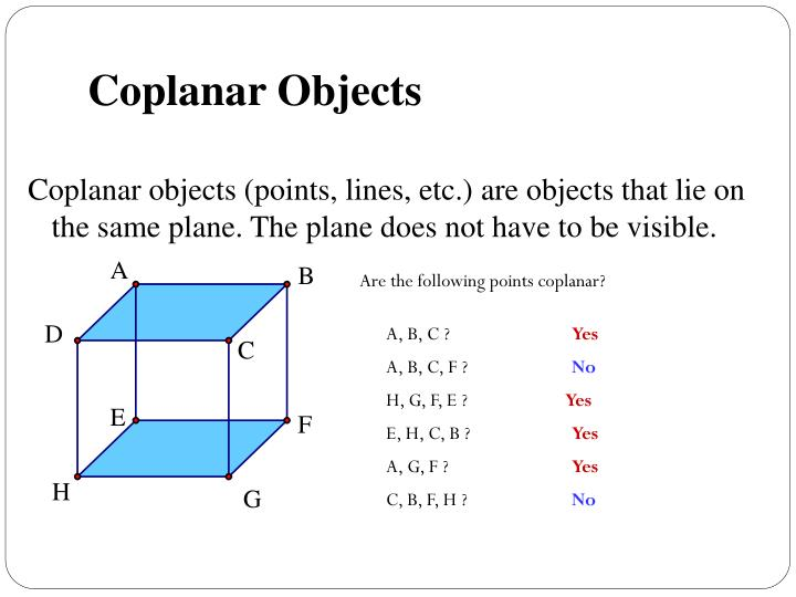 Coplanar Objects