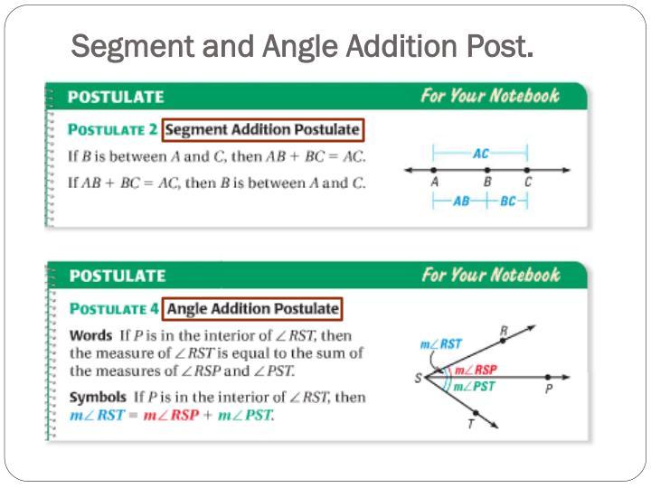 Segment and Angle Addition Post.