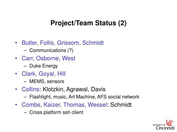 Project/Team Status (2)