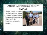 african astronomical society afas