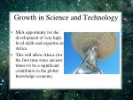growth in science and technology