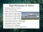high mountains of africa