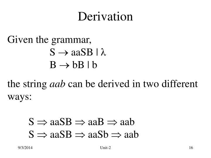 Derivation