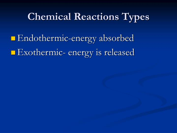 Chemical Reactions Types