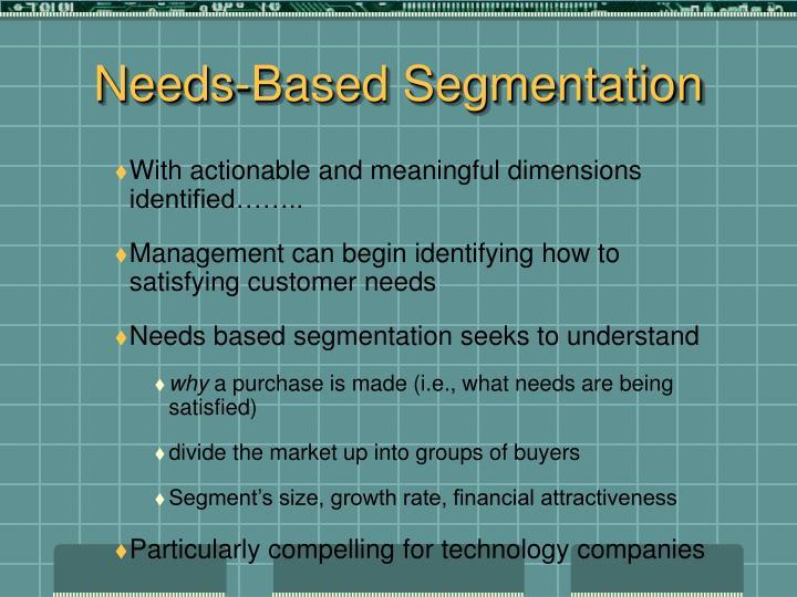 Needs-Based Segmentation