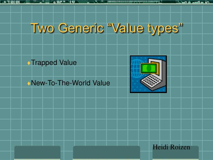 """Two Generic """"Value types"""""""