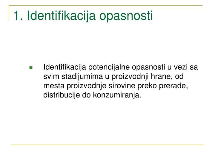 1. Identifikacija opasnosti