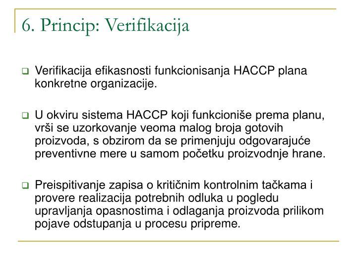 6. Princip: Verifikacija