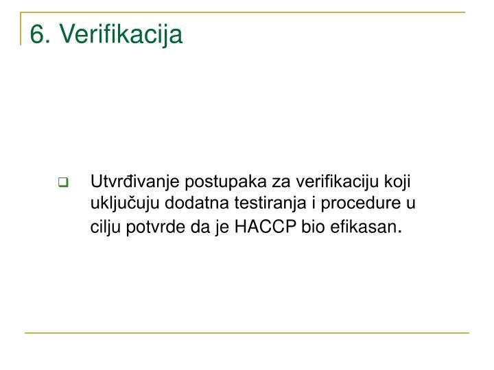 6. Verifikacija