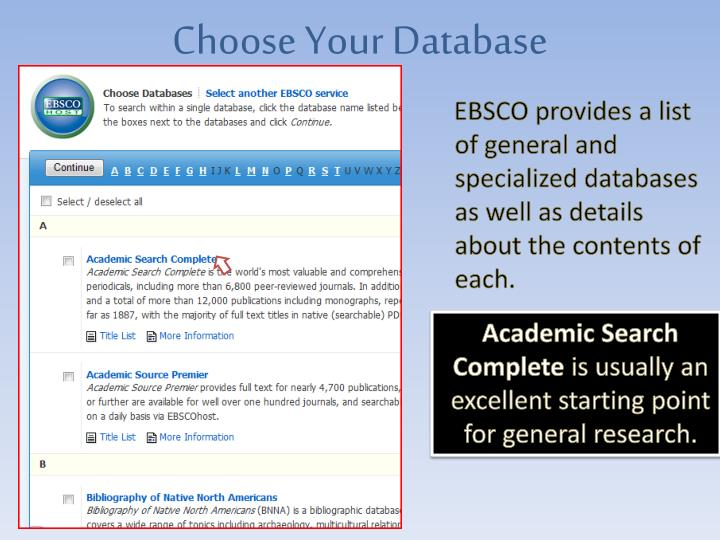 Choose Your Database